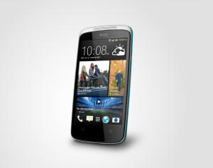 Desire 500 blue Perspective Right HiRGB Render